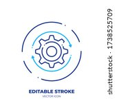 gear line art vector icon with... | Shutterstock .eps vector #1738525709