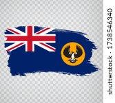 flag of  south australia brush...