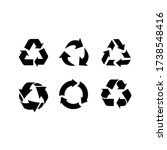 illustration of recycle icon... | Shutterstock .eps vector #1738548416
