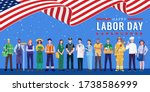 happy labor day. various... | Shutterstock .eps vector #1738586999