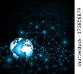 best internet concept of global ... | Shutterstock . vector #173858879
