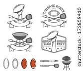 tailgate party design elements... | Shutterstock .eps vector #173859410