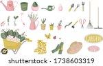 gardening icon set  flat ... | Shutterstock .eps vector #1738603319