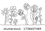 continuous thin line flower... | Shutterstock .eps vector #1738607489