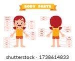 happy cute kid girl body part... | Shutterstock .eps vector #1738614833