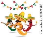 cinco de mayo mariachi jalapeno ...   Shutterstock .eps vector #173862983