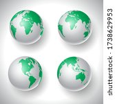 collection of four world globes   Shutterstock .eps vector #1738629953