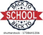 Back School Stamp On White...
