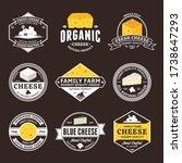 set of vector cheese vintage...   Shutterstock .eps vector #1738647293