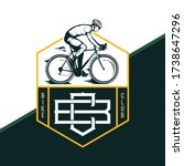 vector road bike club badge ...   Shutterstock .eps vector #1738647296