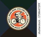 road bike cycling club badge....   Shutterstock .eps vector #1738647299
