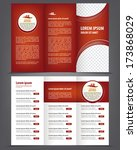 vector empty trifold brochure... | Shutterstock .eps vector #173868029
