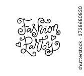 modern mono line calligraphy... | Shutterstock .eps vector #1738680830