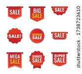 collection of sale red promo... | Shutterstock .eps vector #1738723610
