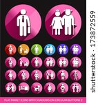 family icons on circular... | Shutterstock .eps vector #173872559
