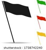 flag. black flag isolated on...