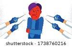 dentophobia fear of dentist... | Shutterstock .eps vector #1738760216