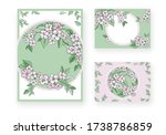 hand drawn romantic flowers of... | Shutterstock .eps vector #1738786859
