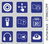 set of 9 icons such as dart ... | Shutterstock .eps vector #1738821299