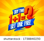 buy two get one free sale... | Shutterstock . vector #1738840250