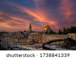 Sunset Over Western Wall...