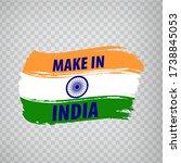 flag of india brush strokes. ...