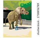 Elephant Perform Circus Number...