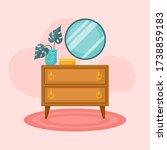 cozy interior with dresser ... | Shutterstock .eps vector #1738859183