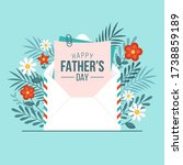 happy fathers day greeting card ... | Shutterstock .eps vector #1738859189