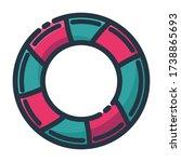 floaties vector icon. summer... | Shutterstock .eps vector #1738865693