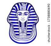 king tutankhamun mask  ancient... | Shutterstock .eps vector #1738880690