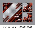 fitness gym social media banner ...   Shutterstock .eps vector #1738930049