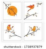 branch illustration with birds... | Shutterstock .eps vector #1738937879