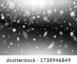 beautiful fluffy snowflakes... | Shutterstock .eps vector #1738946849