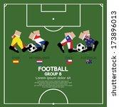 group b of 2014 football ... | Shutterstock .eps vector #173896013