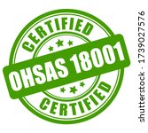 ohsas 18001 certified green...   Shutterstock .eps vector #1739027576