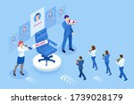isometric hiring and... | Shutterstock .eps vector #1739028179