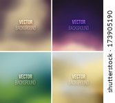 abstract colorful blurred... | Shutterstock .eps vector #173905190