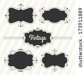 retro labels set   Shutterstock .eps vector #173911889