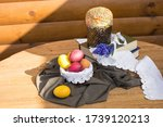 Easter Wooden Table With...