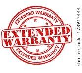 extended warranty grunge rubber ... | Shutterstock .eps vector #173912444