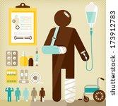 injured  | Shutterstock .eps vector #173912783