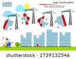 logic puzzle game for children... | Shutterstock .eps vector #1739132546