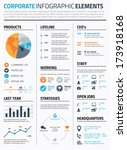 corporate infographic elements... | Shutterstock .eps vector #173918168