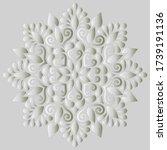 mandala pattern white gradient... | Shutterstock .eps vector #1739191136
