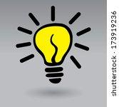 light bulb idea vector... | Shutterstock .eps vector #173919236