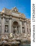 The legendary Trevi fountain in Rome