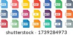 file type icon set   file... | Shutterstock .eps vector #1739284973