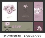 wedding invitation design set.... | Shutterstock .eps vector #1739287799