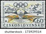czechoslovakia   circa 1968  a...   Shutterstock . vector #173929514